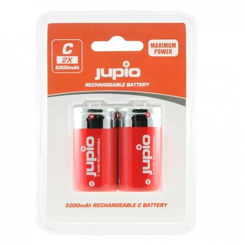 Jupio Lādējamās baterijas C (mazās muciņas) 5.000 mAh 2 gab.