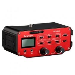 Saramonic Audio Adapter SR-PAX2 for DSLR, CSC and Black Magic Cameras