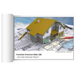 FomeiJet Premium Matt 180 inkjet papīrs 106,7cm x 30,5m