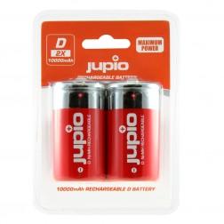 Jupio Lādējamās baterijas D (muciņas) 10.000 mAh 2 gab.