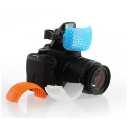 Fotocom 3 Krāsu iebūvētās zibspuldzes difuzors (balts/oranžs/zils)