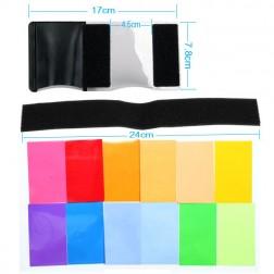 Fotocom Krāsu filtru komplekts ar turētāju kameras zibspuldzēm